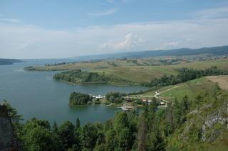 Widok z Czorsztynu na Spisz